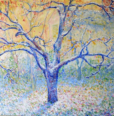 Giverny American Impressionism Theodore_Earl_Butler  Claude_Monet  Painting