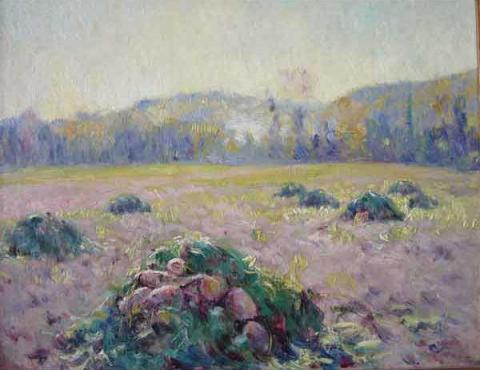 Field of Beets Giverny   Dawson Dawson-Watson Claude Monet Painting american  Impressionism artgiverny