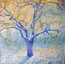 Blue Tree in Winter, Butler's Garden in Giverny by Theodore Earl Butler Artgiverny.com