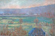 The Seine at Sorel Moussel by Blanche Hoschedé Monet-Claude Monet-Giverny-Female Artist-Impressionism artgiverny.com